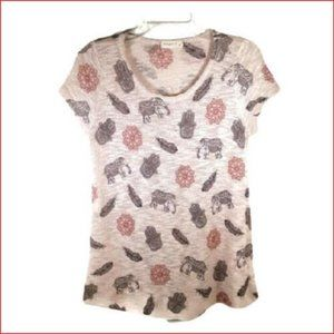 Ginger G Women's Size Large Tan Elephant Top